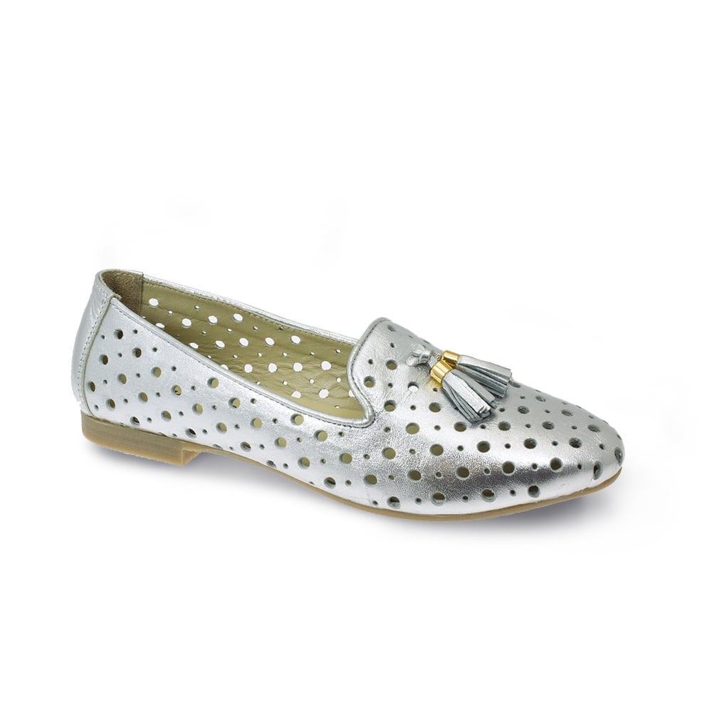 Alma Punched Leather Shoe - Ladies