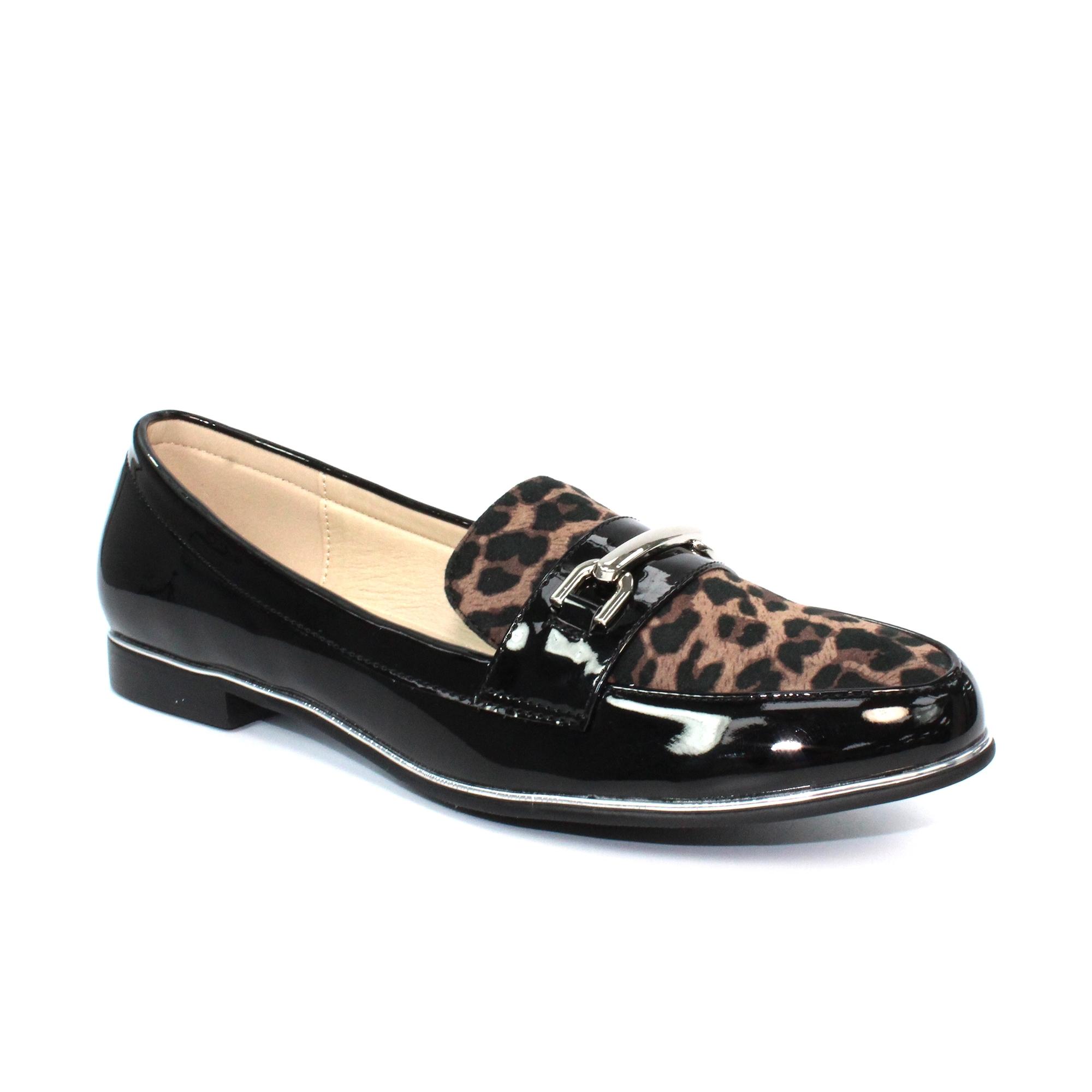 Antonella Leopard Print Loafer - Ladies