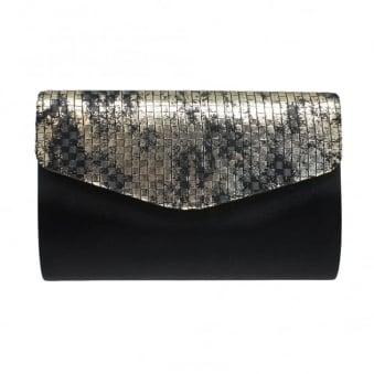 Avril Metallic Clutch Bag