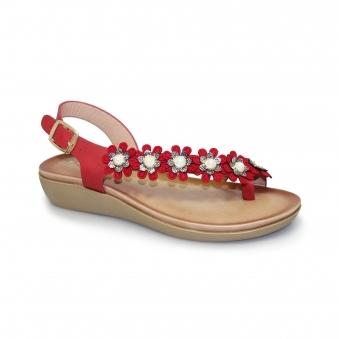 0d654506cf1251 Bow Floral Toe Loop Sandal