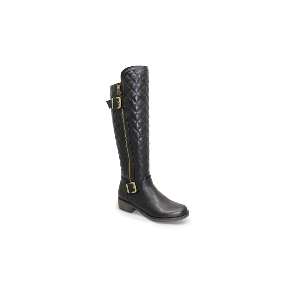 Lunar Brice Quilted Long Boot - Boots from Lunar Shoes UK : quilted long boots - Adamdwight.com