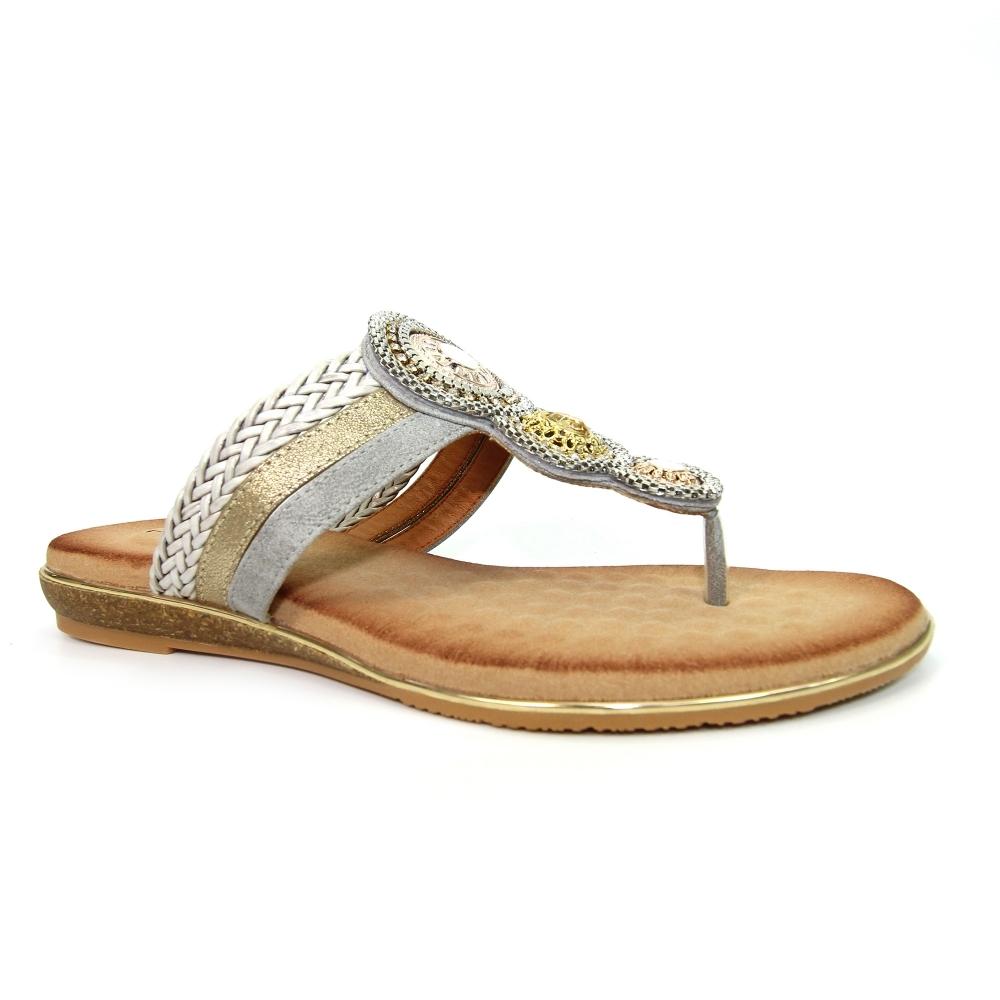 Carlotta Jewelled Toe Post Sandal