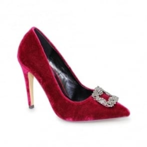Celeste Pointed Velvet Court