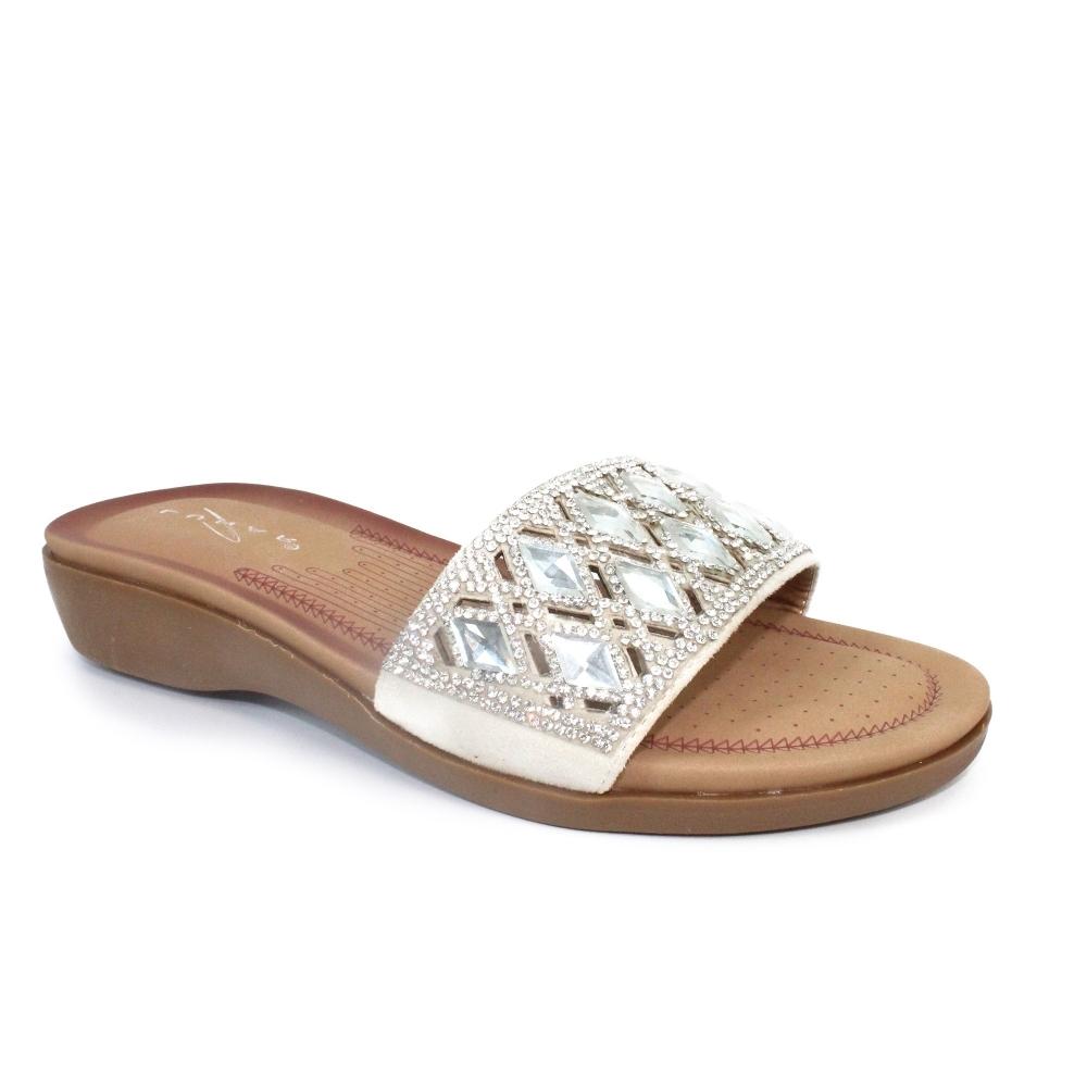 Lunar Chrissy Slip Sandal Ladies Mule Sandals Flip Flop Sliders