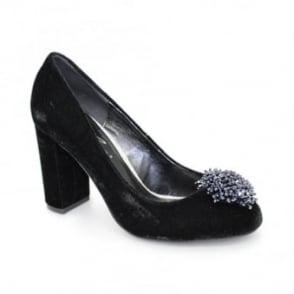 Coral Velvet Heel
