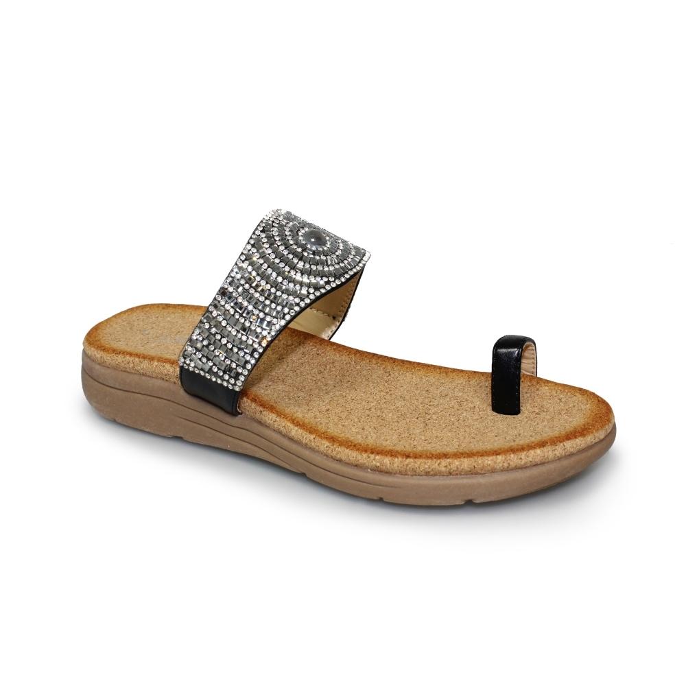Lunar Debbie Sandals Toe Loop Diamante Decoration