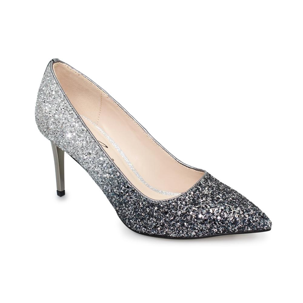 Dusk Glitter Court Shoe - Ladies Shoes