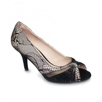 Ebony Lace Peep Toe