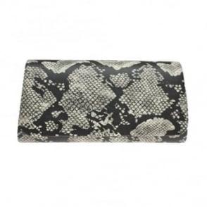 Elder Snake Print Clutch Bag
