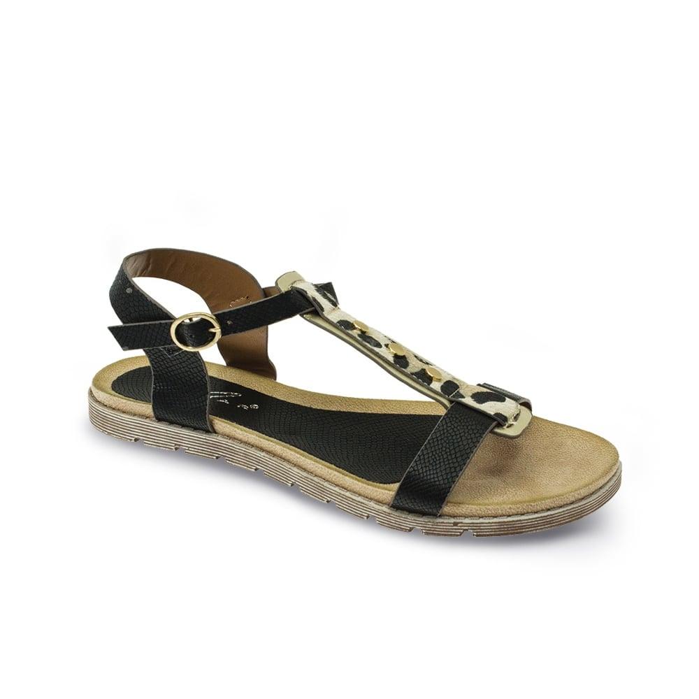 Elva Animal Print Sandal Ladies Sandals From Lunar Shoes Uk