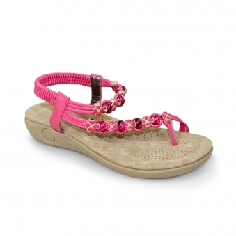 Essence Beaded Toe Loop Sandal