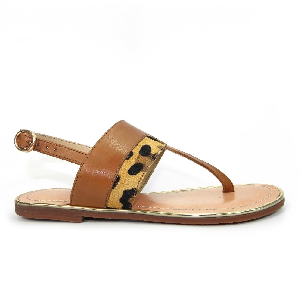 Fabiana Leopard Print Sandal - Ladies
