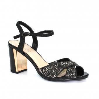 f8799f043635 Flo Gemstone Cross Strap Sandal