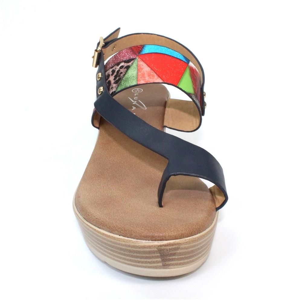 Lunar Shoes   Haze Toe Loop Wedge
