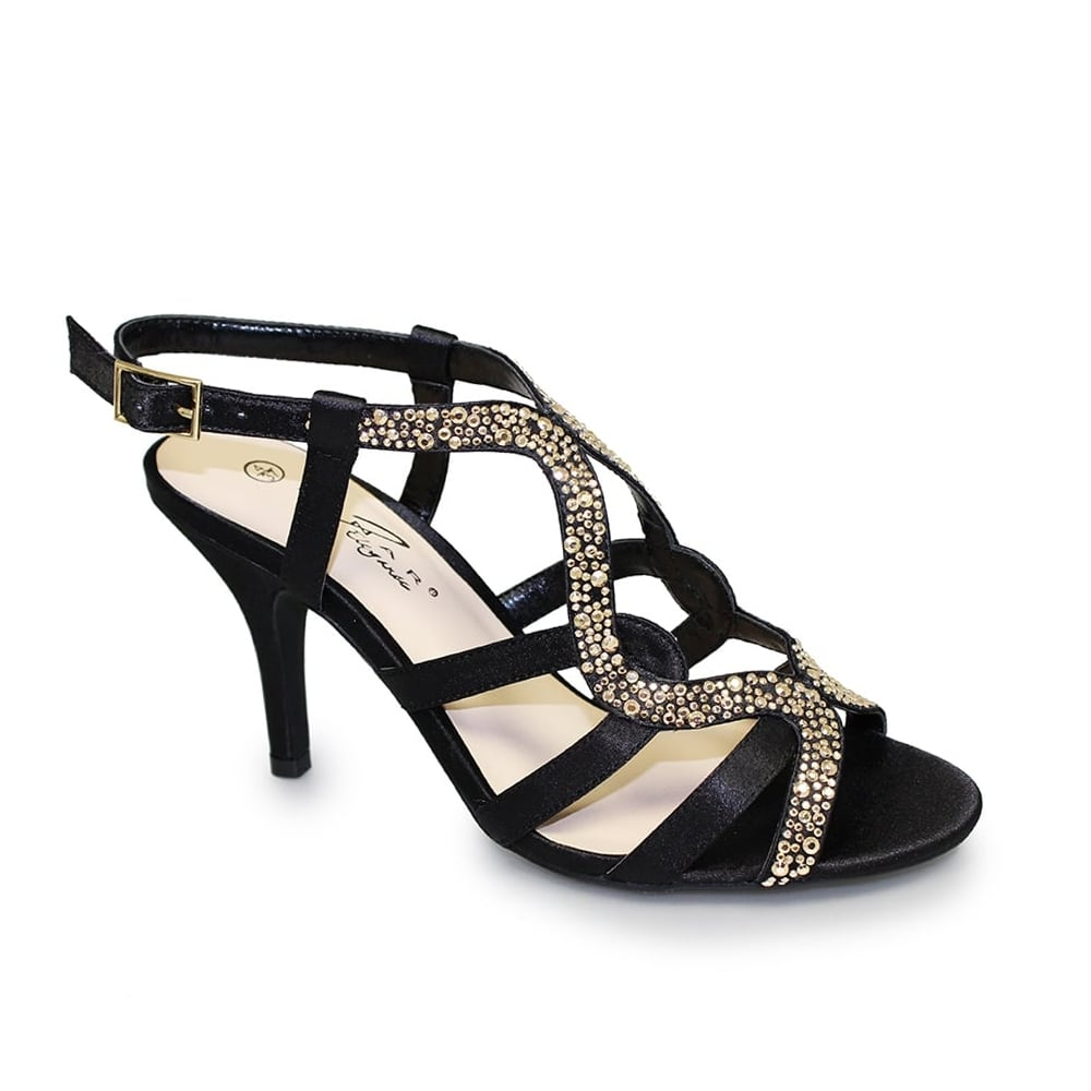 Lunar Heidi Studded Heel | Black