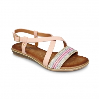 Heston Cross Over Strap Sandal