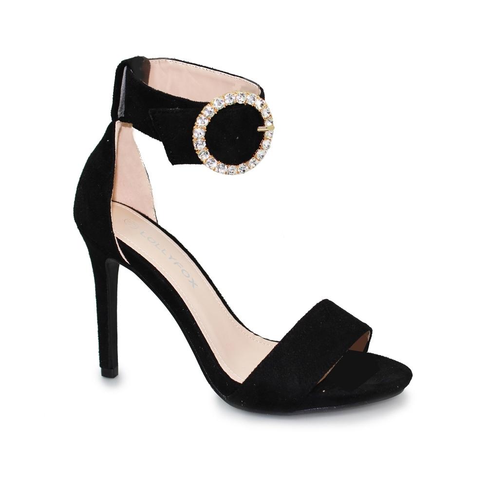 a5b5b9a7be3 Lollyfox Ileana Diamante Buckle Sandal - Shoes from Lunar Shoes UK