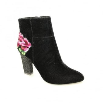 Jade Embroidered Glitter Boot