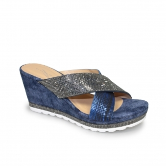 Lagos Cross Strap Wedge Sandal