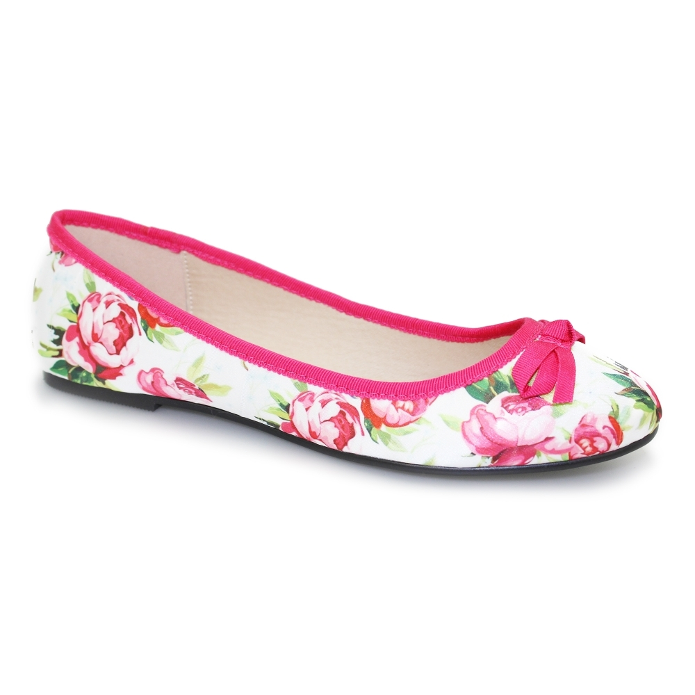 c3c6428f8234 Lunar Layla Floral Print Pump - Shoes from Lunar Shoes UK