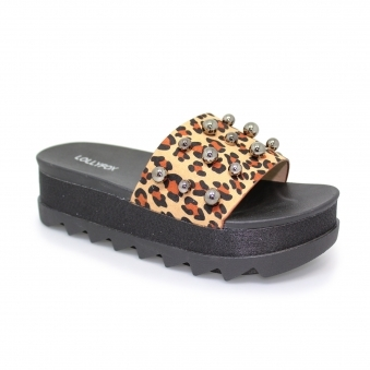 Leopard Wedge Slider