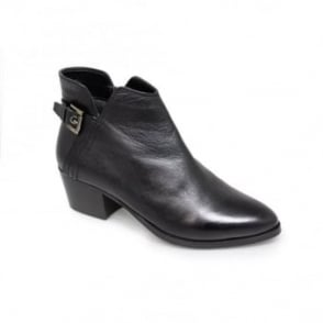 Letita Black Heel Ankle Boot