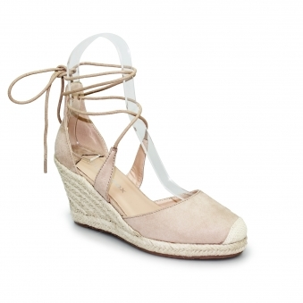 Lollyfox Carmen Lace Up Wedge Sandal