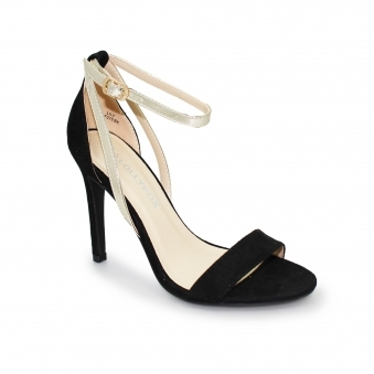 Lollyfox Lily Black/Gold Ankle Strap
