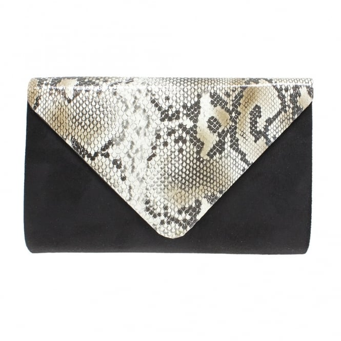 Lunar Lotty Snake Print Clutch Bag
