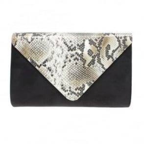 Lotty Snake Print Clutch Bag