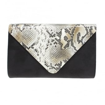 Lotty Snake Print Clutch Bag