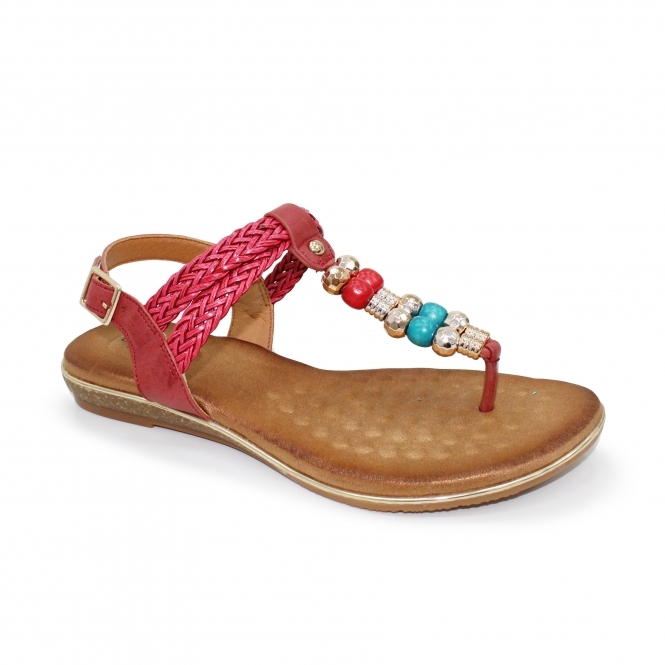 Arlo Toe Post Beaded Sandal