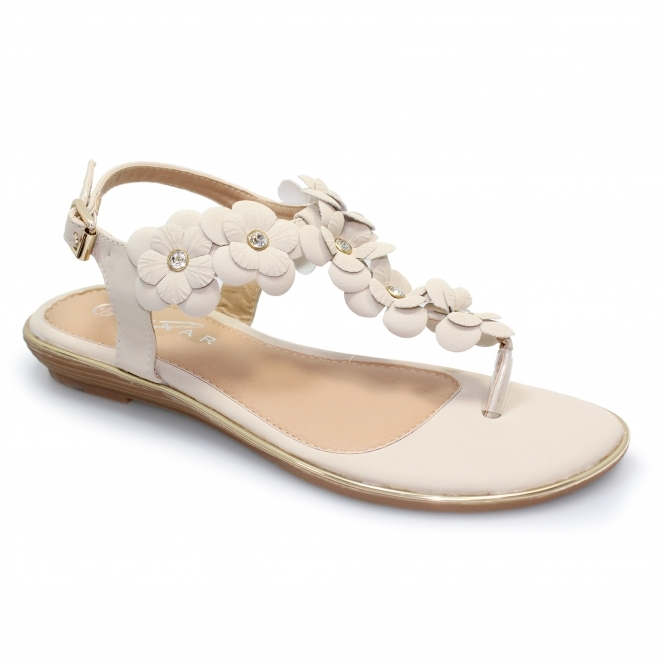 Conrad Toe Post Floral Sandal