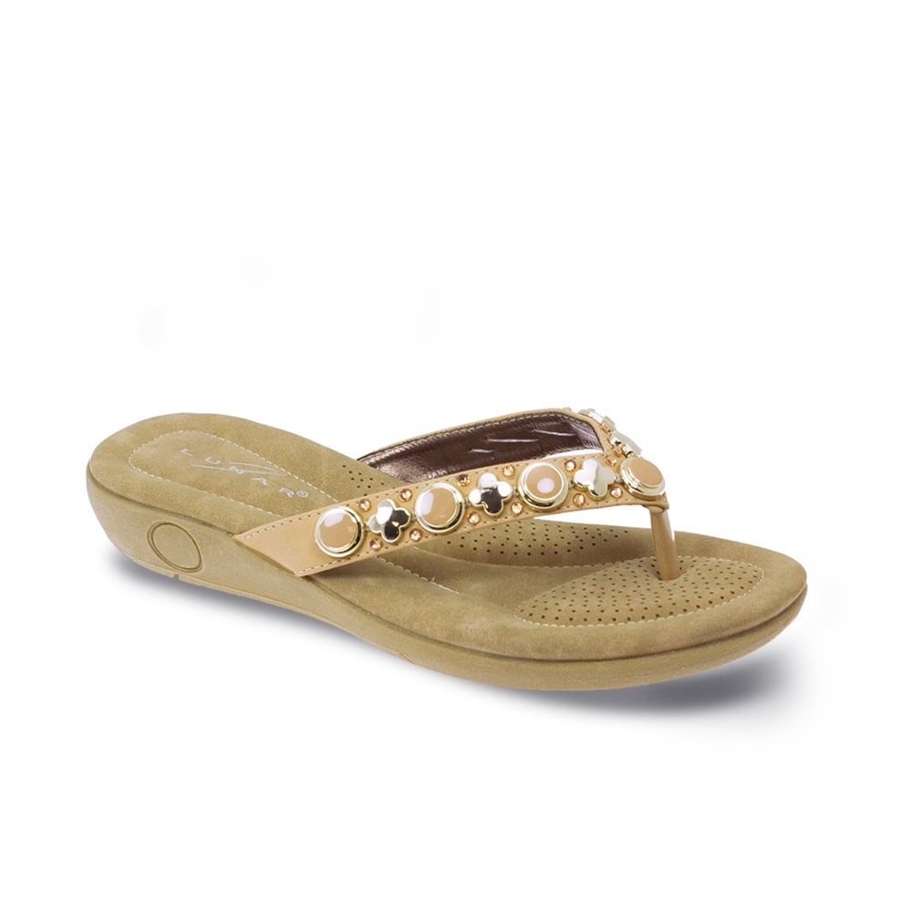 d5f0ff0bc11a4a Lunar Ella Padded Toe Post Sandal - Ladies Sandals from Lunar Shoes UK