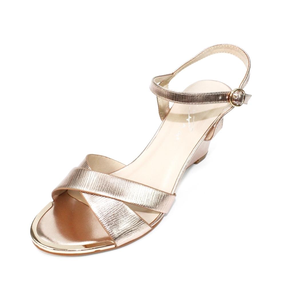 251365a16f119b Helena Metallic Wedge Sandal