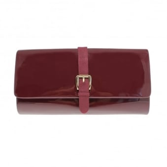 Patsy Patent Clutch Bag