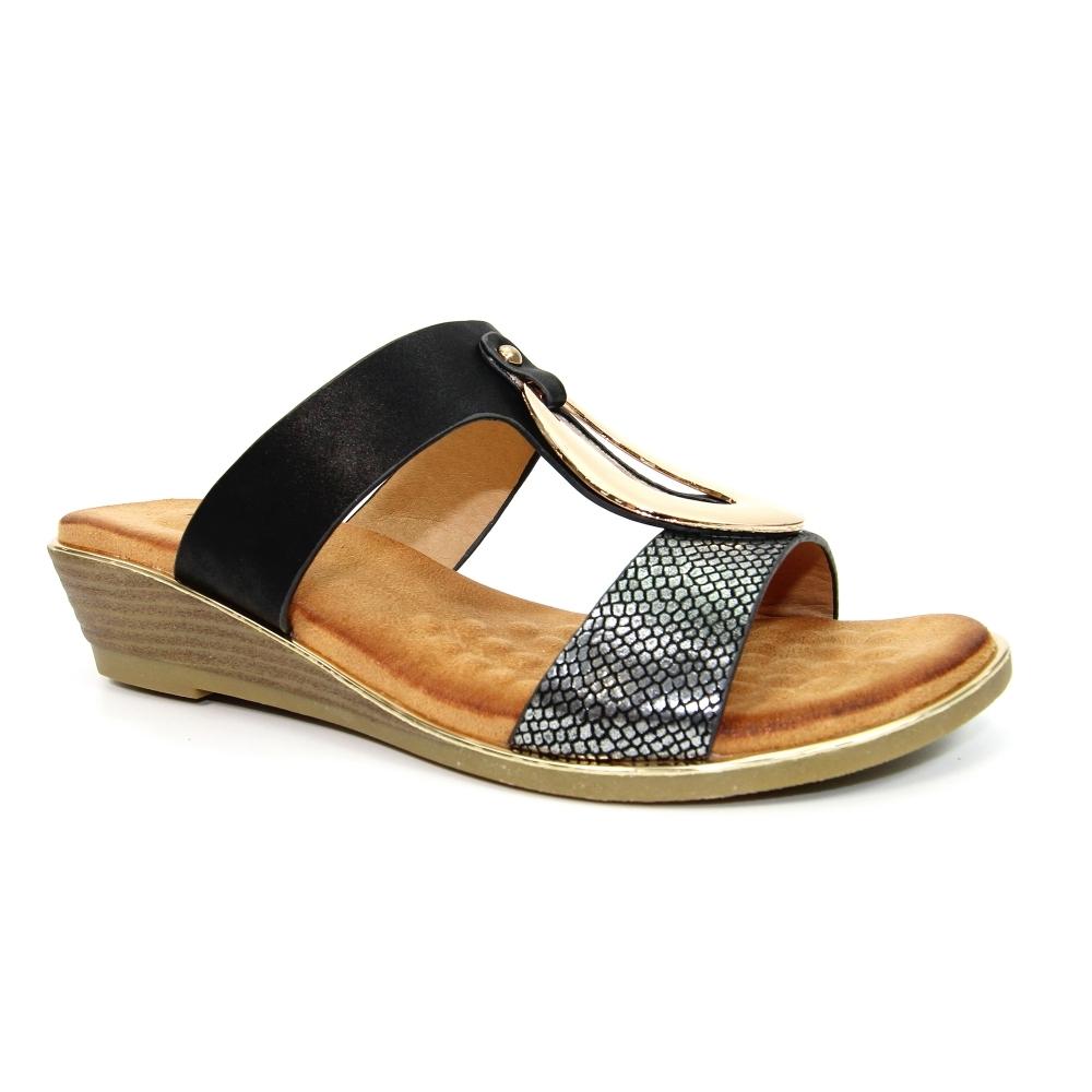 Pennita Low Wedge Sandal - Ladies