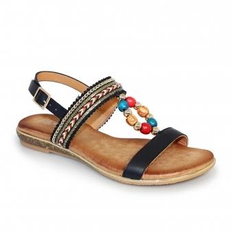 d8e4d1d0b94234 Phillipa Beaded Strap Sandal