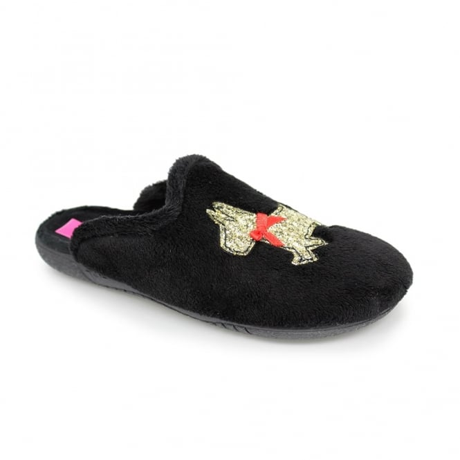 Lunar Rex Glitter Scottie Dog Slipper