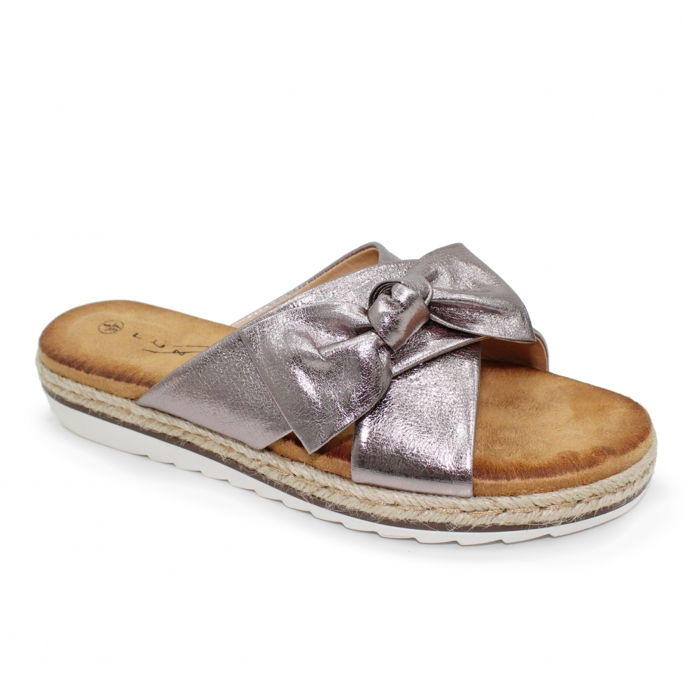 a3a3edb25e6 Rico Double Strap Bow Sandal