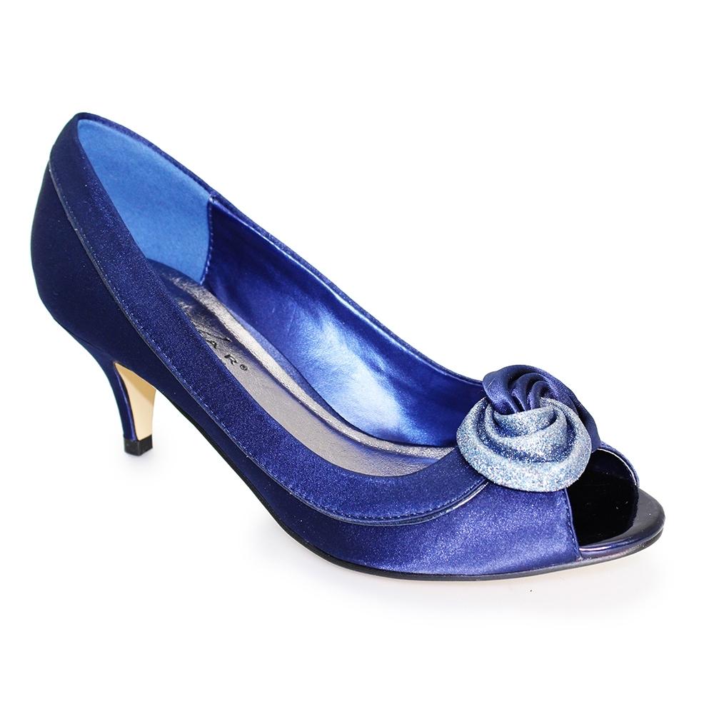 Lunar Shoes Ladies Ripley Satin Court Shoes Amp Matching