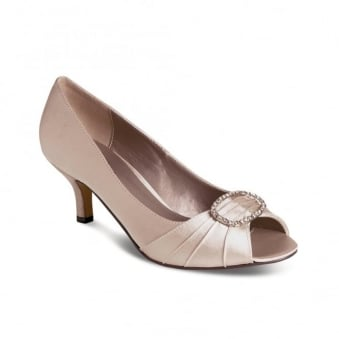Rochelle Low Heeled Diamante Court