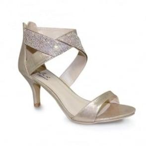 Simone Glitz Strap Heel