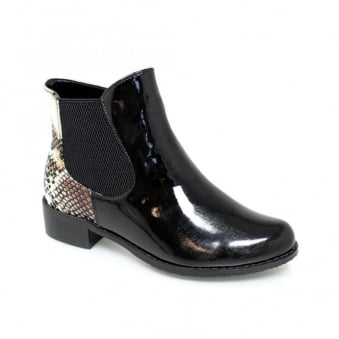 Sydney Black Patent Boot