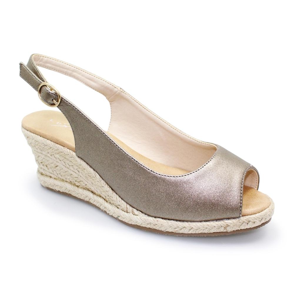 exclusive range super cute really comfortable Lunar Shoes | Toledo Slingback Espadrille Sandal | Womens Summer Wedge