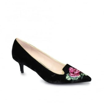 Trudy Embroidered Heel