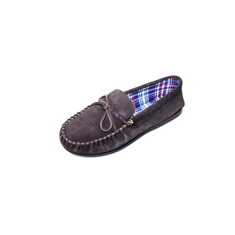05ccf17742868 Vienna Suede Moccasin Slipper - Slippers from Lunar Shoes UK