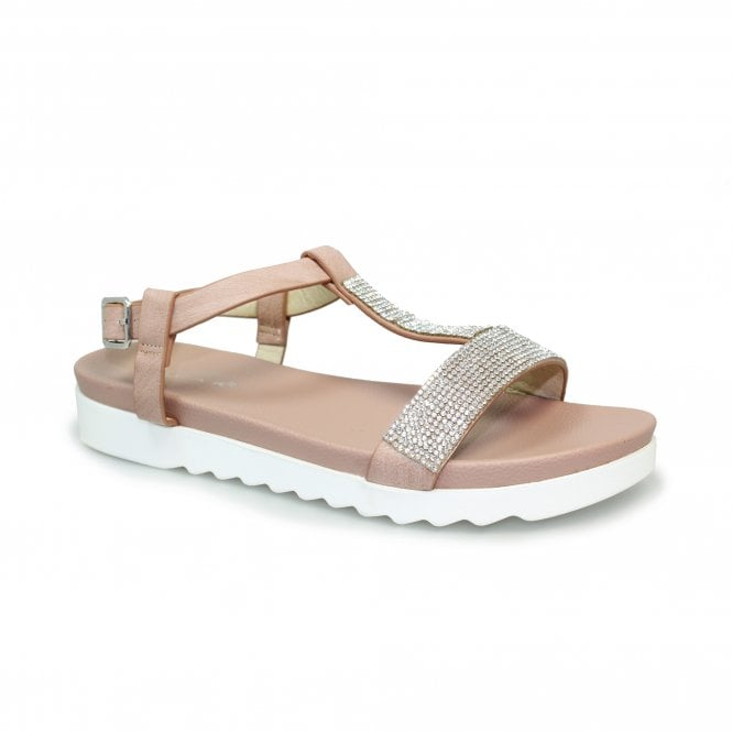 Wren Diamante 'T' Bar Sandal